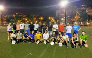Entrenamiento de Ultimate Frisbee en Madrid
